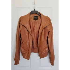 Lane Crawford Brown Faux Leather Jacket